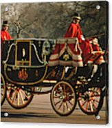 Churchill Arrives At Buckingham Palace Acrylic Print