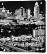 Cincinnati Covington And Ohio River Acrylic Print