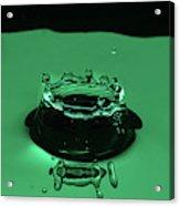 Circle Water Dance Green Acrylic Print