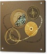 Circular Objects And Binary Code, Cg Acrylic Print