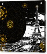 City Of Lights - Kaleidoscope Moon For Children Gone Too Soon Number 6  Acrylic Print