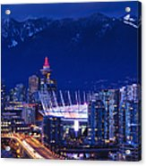 City View With Bc Place Stadium Acrylic Print