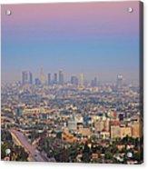 Cityscape Of Los Angeles Acrylic Print