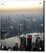 Cityscape Puxi Shanghai Acrylic Print