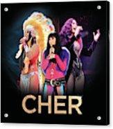 Classic Cher Trio Acrylic Print
