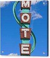 Classic Motel Sign Acrylic Print