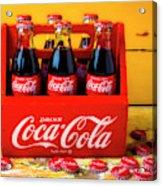 Classic Six Pack Of Cokes Acrylic Print