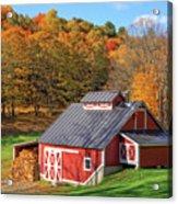 Classic Vermont Maple Sugar Shack Square Acrylic Print