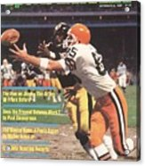 Cleveland Browns Dave Logan And Pittsburgh Steelers Mel Sports Illustrated Cover Acrylic Print