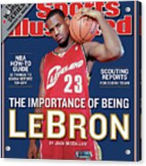 Cleveland Cavaliers LeBron James, 2003-04 Nba Basketball Sports Illustrated Cover Acrylic Print