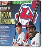 Cleveland Indians Cory Snyder And Joe Carter, 1987 Mlb Sports Illustrated Cover Acrylic Print