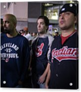Cleveland Indians Fans Gather To The Acrylic Print