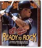 Cleveland Indians Manny Ramirez, 1996 Mlb Baseball Preview Sports Illustrated Cover Acrylic Print