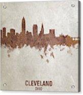 Cleveland Ohio Rust Skyline Acrylic Print