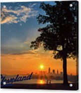 Cleveland Sign Sunrise Acrylic Print