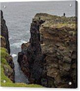 Cliff Vigil At Esha Ness On Shetland Mainland Acrylic Print