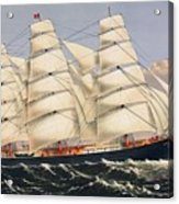 Clipper Ship Three Brothers, The Largest Sailing Ship In The World Published By Currier And Ives Acrylic Print
