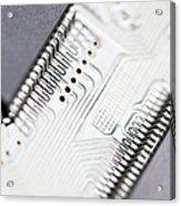 Close-up Of A Circuit Board Acrylic Print