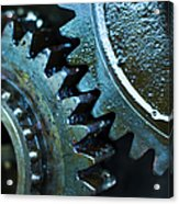 Close Up Of Greasy And Oily Gears Acrylic Print