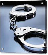 Close Up Of Metal Handcuffs Acrylic Print