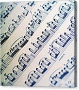 Close-up Of Sheet Music Acrylic Print
