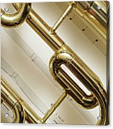 Close-up Of Trumpet Acrylic Print