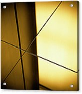 Close-up Spot Lit Reflection In Yellow Acrylic Print