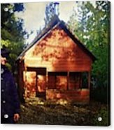 Closing The Cabin For Winter Acrylic Print