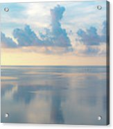 Cloud Reflections On Pamlico Sound Acrylic Print