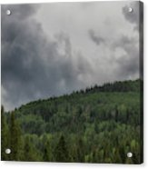 Cloud Topped Aspens Acrylic Print