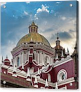 Clouds Over Puebla Cathedral Acrylic Print
