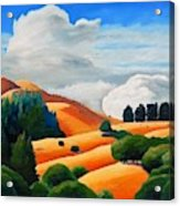 Clouds Over Windy Hill Acrylic Print