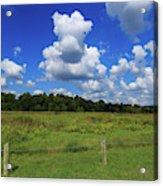 Clouds Surround The Landscape Acrylic Print