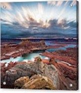 Cloudy Morning at Lake Powell Acrylic Print