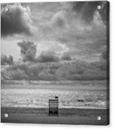 Cloudy Morning Rough Waves Acrylic Print
