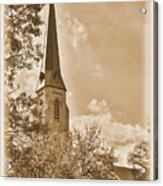 Clustered Spires Series - All Saints Episcopal Church No. 8cs - Frederick Maryland Acrylic Print