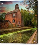 Coalport Bottle Kiln Sunset Acrylic Print