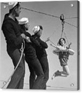 Coast Guards Practicing Life Saving Acrylic Print