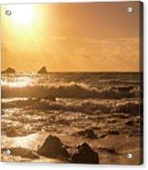 Coastal Sunrise Silhouette Acrylic Print