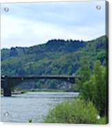 Cochem Castle And River Mosel In Germany Acrylic Print