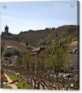 Cochem Castle And Town On Mosel In Germany Acrylic Print