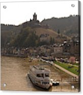 Cochem Castle, Town And River Mosel In Germany Acrylic Print