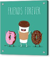 Coffee And Donuts Illustration. Vector Acrylic Print