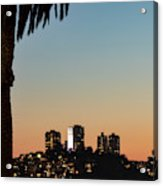 Coit Tower Twilight Acrylic Print