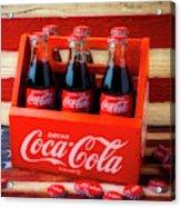 Coke And American Flag Acrylic Print