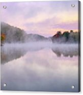 Cold Autumn Morning By A Lake Acrylic Print