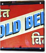 Cold Beer In India Acrylic Print