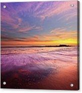 Color Splash At Sunset, Laguna Beach Acrylic Print