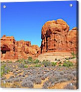 Colorado Arches Park Landscape Scrub Red Rocks Blue Sky 3335 Acrylic Print