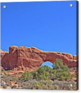 Colorado Arches Rock, Scrub Blue Sky 3397 Acrylic Print